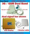 Best price!!! Newest 2G 3G LCD Signal booster ! GSM 900 GSM 2100 Mobile Phone Booster Amplifier 3G Signal Booster FULL SET
