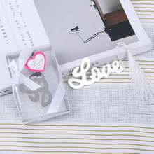 1pcs Stainless Steel Bookmark  Sweet love Wedding Favors And Gifts For Guests wedding souvenir