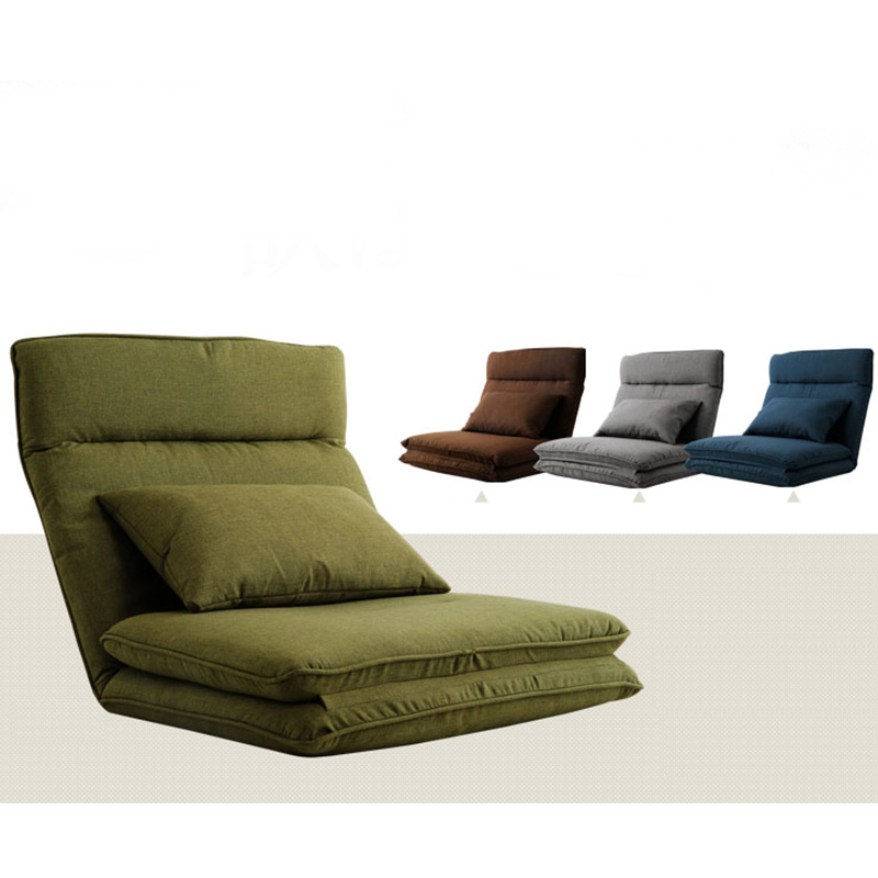 Modern Foldable Reclining Floor Sofa Bed Living Room Furniture Fabric Upholstery Recliner Lounger Sofa Chair Daybed Sleeper image