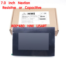 "7.0 ""Nextion משופר HMI אינטליגנטי USART UART הסידורי TFT LCD מודול תצוגת Resistive או קיבולי לוח מגע w/מארז"