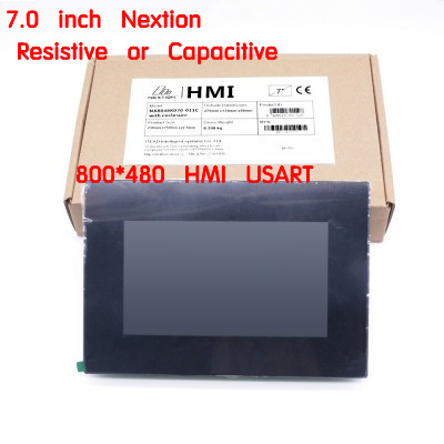 """7.0 """"Nextion gelişmiş HMI akıllı USART UART seri TFT LCD modül ekran rezistif veya kapasitif dokunmatik Panel w/muhafaza"""