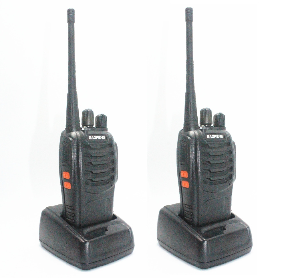 2psc BaoFeng BF 888S Walkie Talkie black UHF 400 470MHz cheap Two Way Radio with free