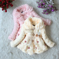2015 Winter Children Thickening Wadded Jacket Baby Cotton Outerwear Girl's Coral Fleece Fabric Exquisite Wadded Coat