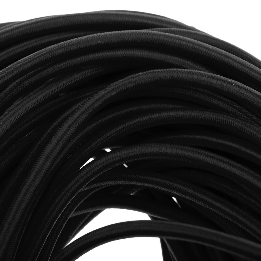 Premium Rubber Elastic Shock Cord Bungee Rope Tie Down DIY Craft 5mm x 75m