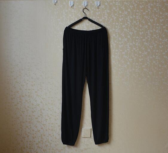 Spring Summer Women's Trousers For Home Pajama Bottoms Cotton Sleep Pants Women Pajama Trousers Black Plus Size XL-XXXL Q207 4