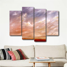 Laeacco Sunset Clouds Sky Solid Canvas Oil Poster And Prints Living Room House Wall Decor Art Painting Home Decoration Picture