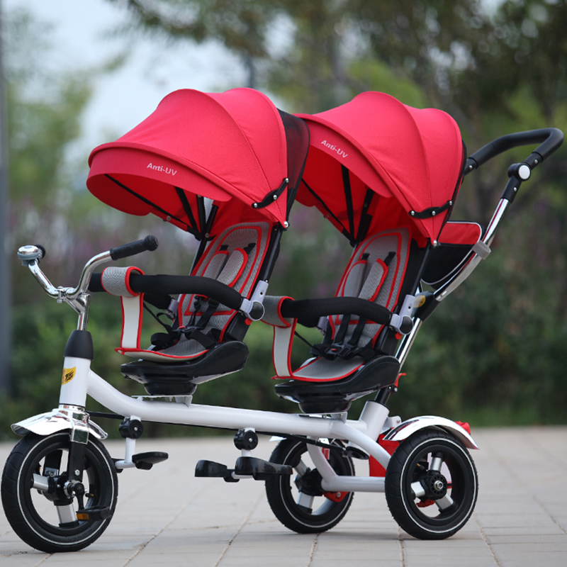 Twins baby stroller front and back seat baby sport children tricycle twins stroller double tricycle bicycle rotary seat цена