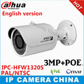 Dahua English version IPC-HFW1320S 3MP p2p camera IR 30M IP66 Network IP Camera replace of  IPC- HFW4300S cctv camera