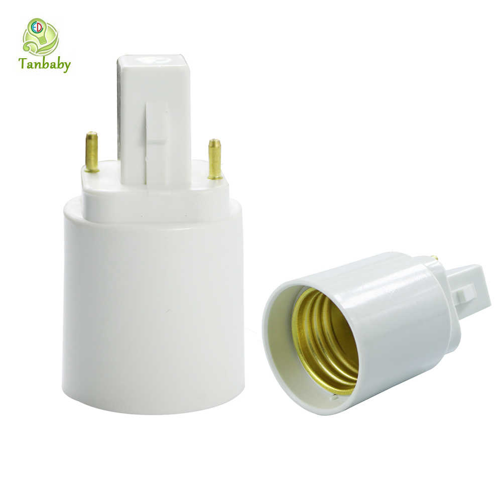 G24 to E27 base adapter White 2pin Base Fixture G24 to E27 screw base convertor  PC Retardant for led lamp bulb