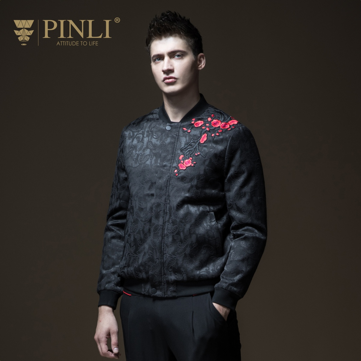 Winter Jacket Men Top New Pinli Product Made Fall 2018 Men's Clothing Baseball Cotton Jacquard Sports Coat Boom B183505369