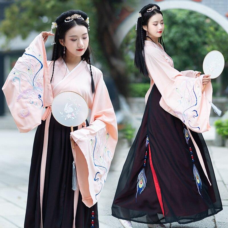 Tenue de Costume de danse pour femmes Hanfu tenue de Costume de la dynastie Qing Costume chinois robe orientale vêtements chinois traditionnels DL3755
