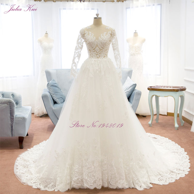 1eb79f7f6509d Romantic Vintage V-Neck A-Line Wedding Dress With Soft Embroidery Organza Lace  Appliques