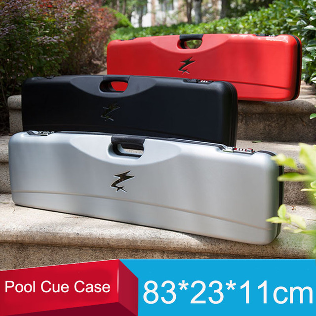 Cheap High Quality Code Pool Cues Case Double Coded Lock Billiard Accessories Black Red Silver Color Can Put 3 Butts 4 Shafts China