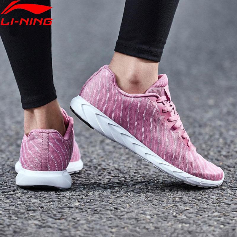 Li Ning Women BASIC RUNER Running Shoes Mono Yarn LiNing Light Weight Breathable Sport Shoes Fitness