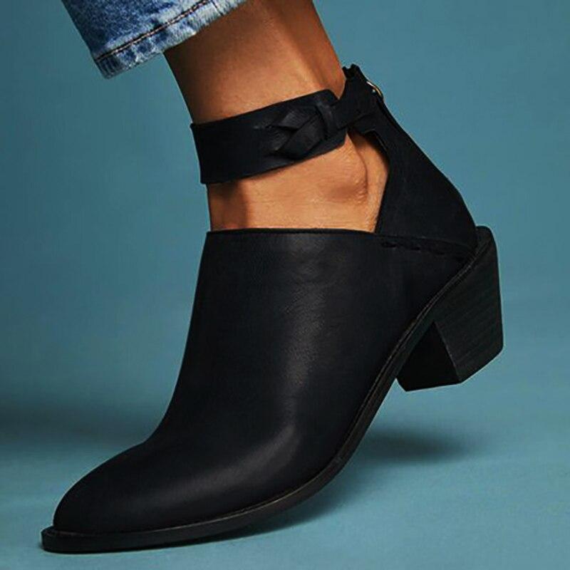 Zapatos de tacón alto zapatos de primavera otoño mujer tobillo botas tamaño 35-43 AB106