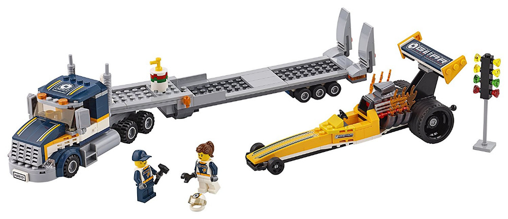 children toy CHINA BRAND 02025 self-locking bricks Compatible with Lego City Great Vehicles Dragster Transporter 60151 lepin 02025 city the high speed racer transporter 60151 building blocks policeman toys for children compatible with lego