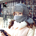 2017 Winter Unisex Faux Fur Bomber Hats For Men Snow Caps Mask Cap Casual Earmuffs Russia Women Hat Free Shipping