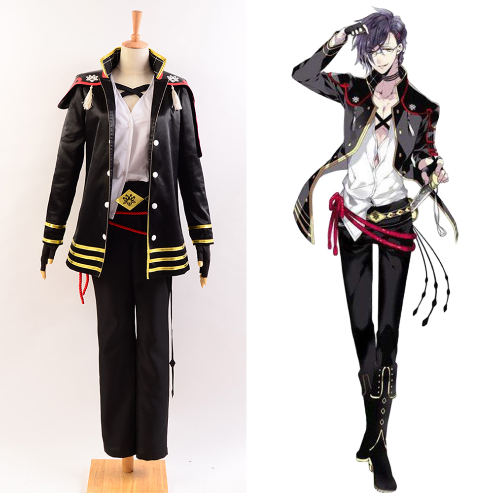 Touken Ranbu Cosplay Akashi Kuniyuki Costume Full Set Custom Made Carnival Halloween For Women Men Costumes