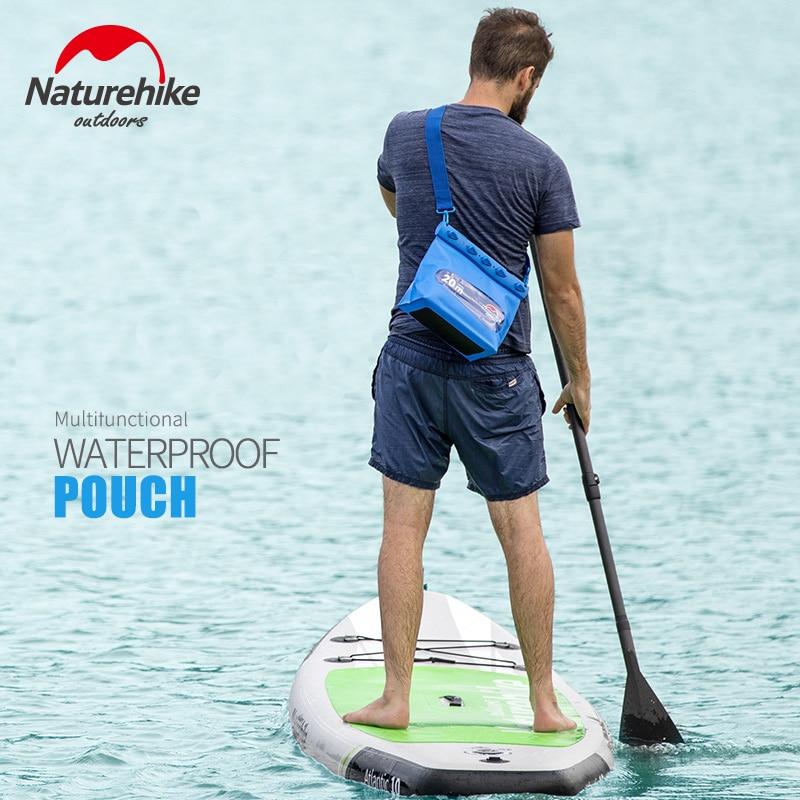 Naturehike Waterproof Shoulder Bags PVC Swimming Drifting Dry Sack Diving Underwater Storage Bags Kayaking Cell Phone Pocket