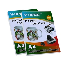 V-HONG brand A4 size sublimation  heat transfer pape for heating technology ceramic lithography glass crystal mouse pad