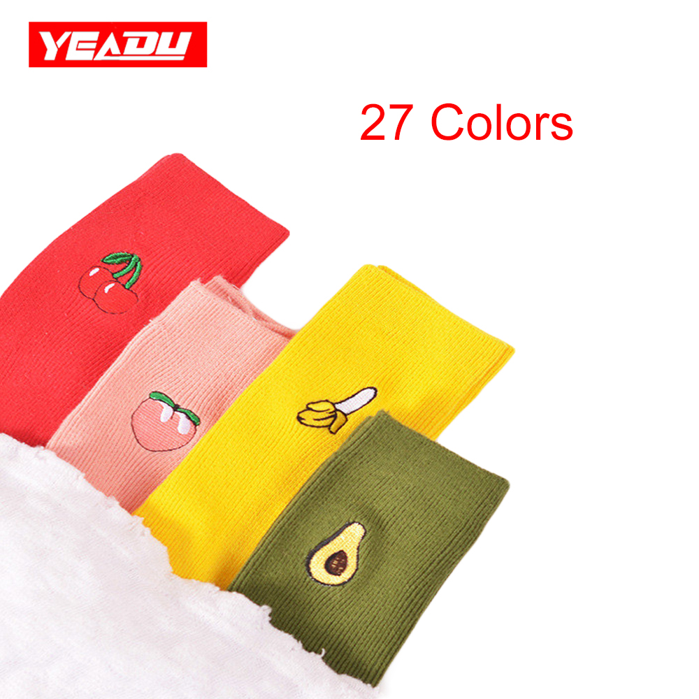 Yeadu New Cotton Cute Fruit Print Women's   Socks   Meias Retro Embroidery Long Colorful Funny   Socks   Women Girls Multicolor   Sock