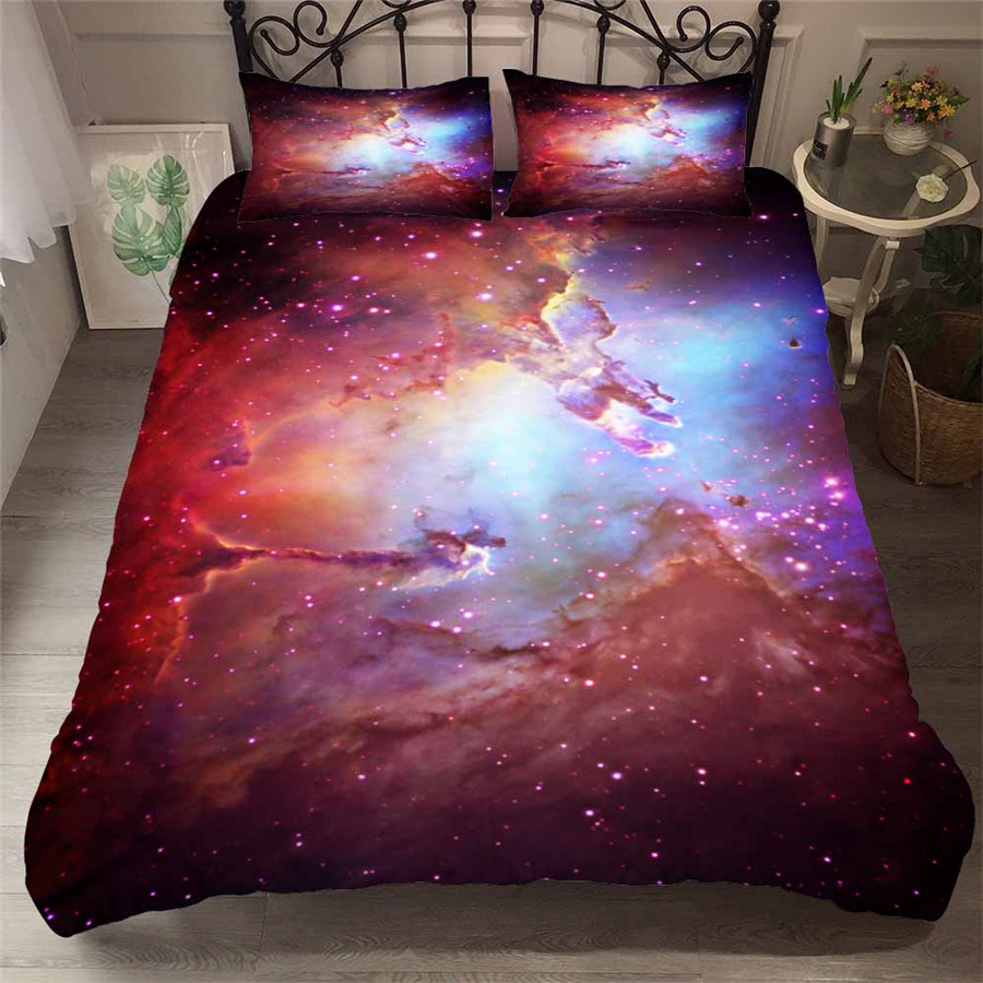 HELENGILI 3D Bedding Set Starry Sky Galaxy Print Duvet Cover Set Bedcloth with Pillowcase Bed Set Home Textiles #YH-45HELENGILI 3D Bedding Set Starry Sky Galaxy Print Duvet Cover Set Bedcloth with Pillowcase Bed Set Home Textiles #YH-45