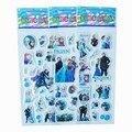 3 hoja/lot freeze Serie de La Princesa Puffy Etiqueta Del Libro de Recuerdos de la Burbuja Pegatinas Kawaii Emoji Recompensa Niños Juguetes