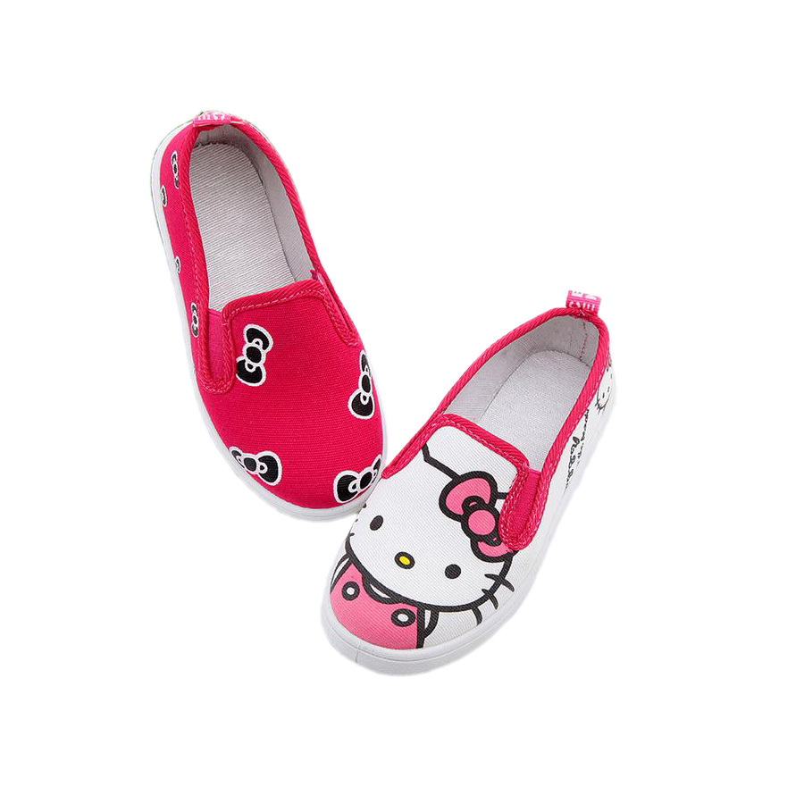 ac50fa023 fashion baby girl causal canvas shoes cute hello kitty flat shoes for  3-12yrs girls children kids teenager light leisure shoes