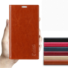 Sucker Cover Case For Sony Xperia XZ F8332 High Quality Luxury Cowhide Genuine Leather Flip Stand Phone Bag + Free Gift
