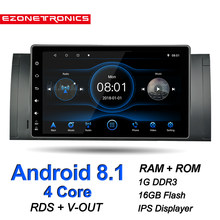 Auto Android 8.1 Para BMW X5 E39 E53 M5 Multimídia Carro Rádio Estéreo Quad Core 9 polegada IPS Tela Sensível Ao Toque GPS WiFi Bluetooth DVR RDS(China)