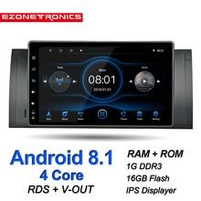 Auto Android 8.1 Für BMW X5 E39 E53 M5 Auto Multimedia Radio Stereo Quad Core 9inch IPS Touch Screen GPS wiFi Bluetooth DVR RDS