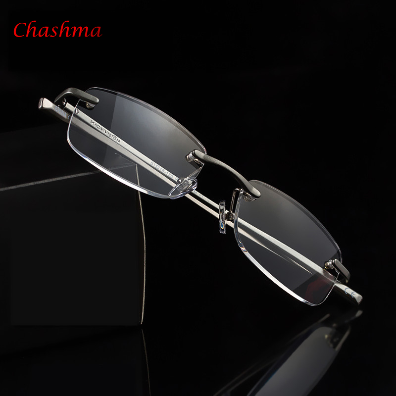 2017 Luxusní brýle na čtení pro ženy Hliníkový rám Men Presbyopia Eyewear Italy Design Oculos de grau Doprava zdarma