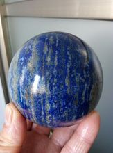 76mm NATURAL Lapis Lazuli crystal SPHERE BALL Healing 700.7g