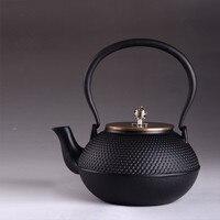 本格的な鋳鉄ティーポットセット日本茶ポットtetsubinケトル1300ミリリットル箸置きカンフー注入器金属ネットフィルタ調理ツール