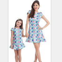 Mother Daughter Dresses Summer New Teens Girls Dress Children Clothes Mom Kids Family Matching Outfits Clothing