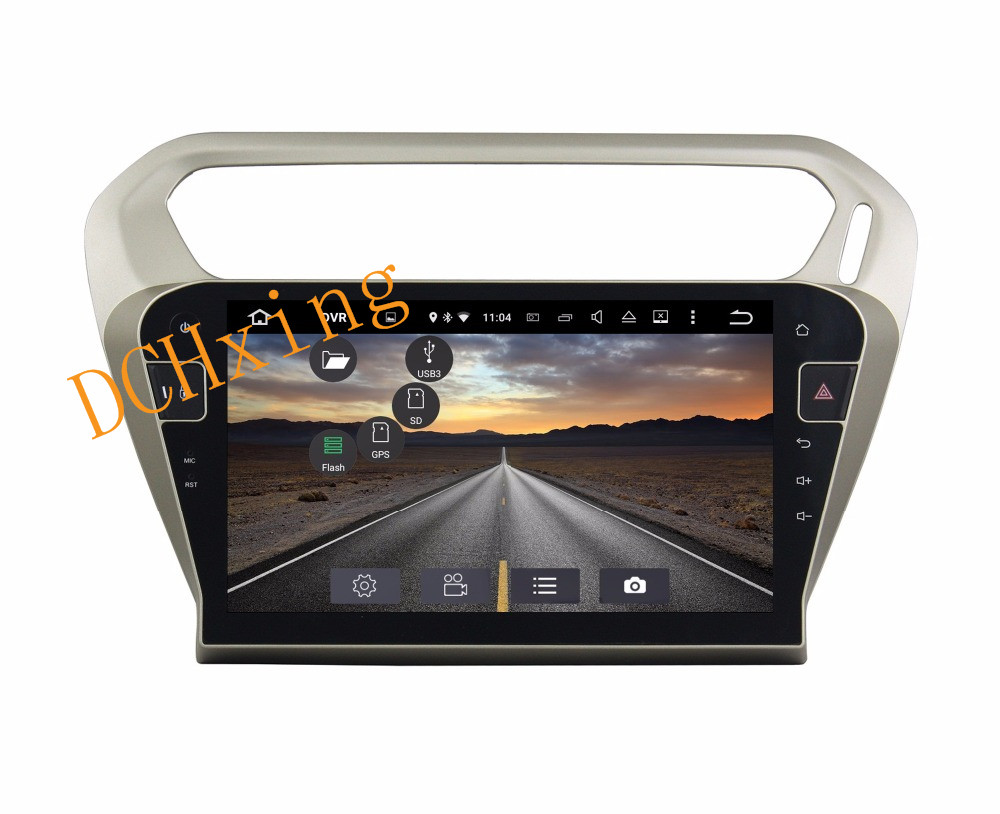 """Top 10.1"""" Octa Core Android 9.0 8 core 64G ROM 4G RAM Car DVD Player for Peugeot PG 301 2013-2016 Citroen Elysee GPS Radio 8"""