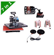 30*38CM T-shirt , Mug ,Plate ,Hat 7-1 Combo Heat Press machine LY-037 free shipping