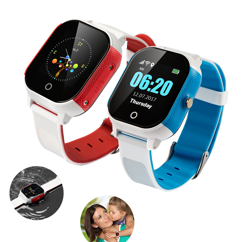 GPS Kids Smart Watch IP67 Waterproof Touch Screen GPS+WIFI+LBS SOS Device Baby Children Safe Anti-lost Monitor Support SIM Card lemado v12 gps sport smart watch for children 1 22 touch screen support 32g tf card vibration sos kids safe tracker with camera