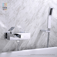 Wall Mounted Bathroom Faucet Bath Tub Mixer Tap With Hand Shower Head Shower Faucet Hot And