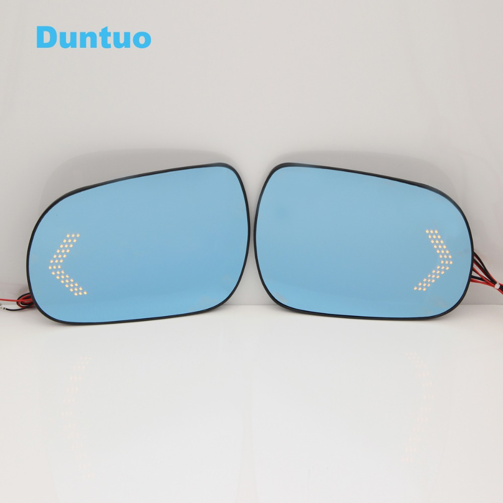 Blue Wing Mirror Glass With Base-Heated Car Glare Proof Mirror LED Turn Signal Light For TOYOTA VELLFIRE/ ALPHARD 2010 blue mirror car side view mirrors glare proof mirror led turn signal lamp heated rearview mirror lens for ford ranger 2014 2016