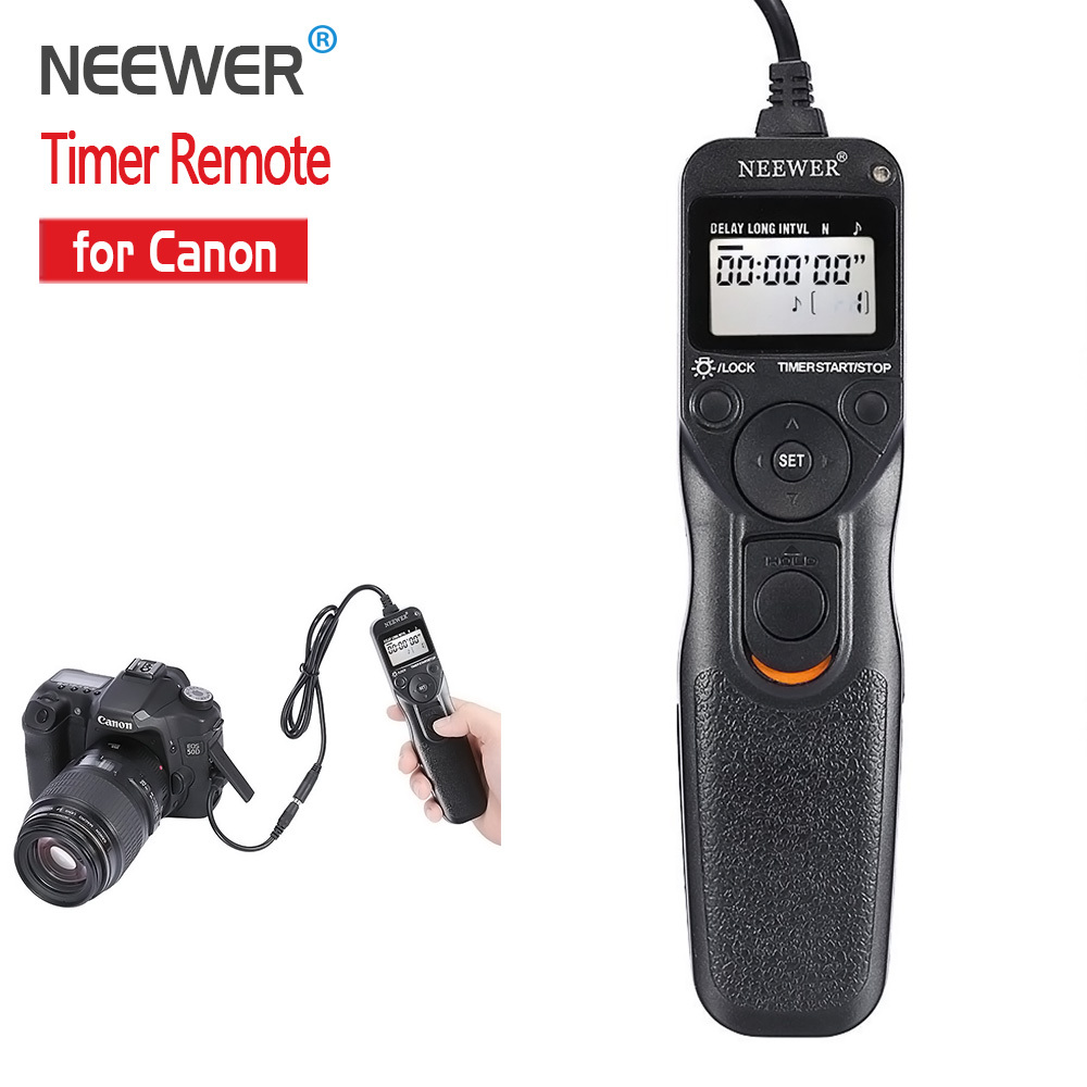 """Neewer Shutter Release Timer"" nuotolinio valdymo laidas Canon EOS 550D 600D 650D 700D 1100D 1000D 1D 5D Mark II 50D Nemokamas pristatymas"