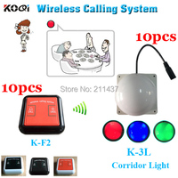 Waiter caller system K-F2 100% waterproof bell for client in the private room and K-3L room light for waiter in the corridor