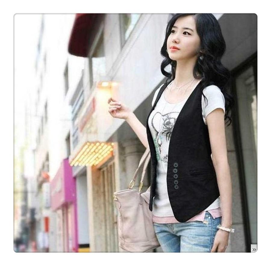 women solid black vest  (5)