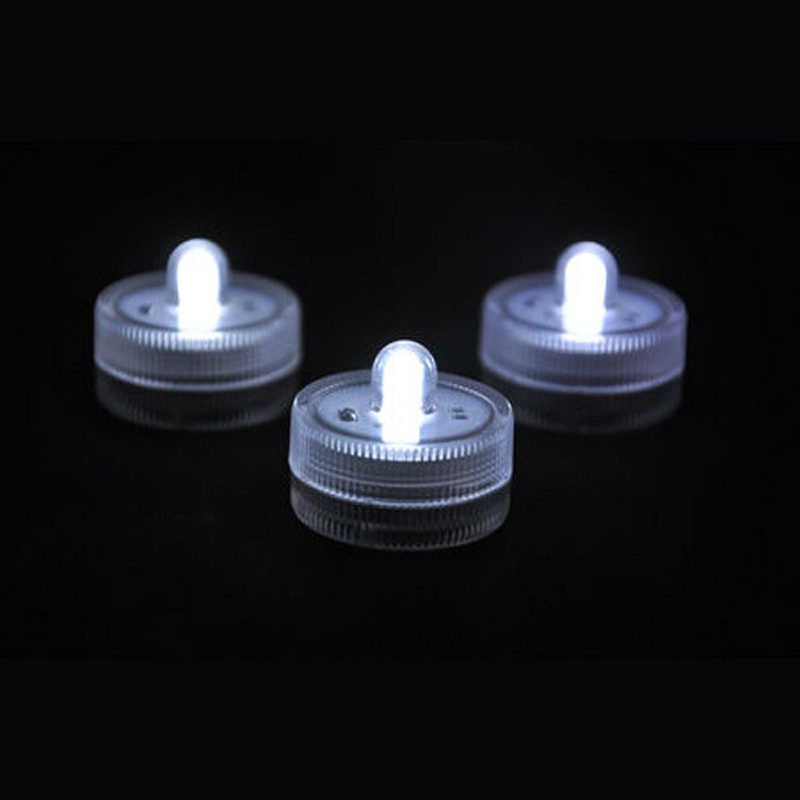 10pieces/ Lot Waterproof LED Submersible Wedding Floral Decoration White Light Candles Lamp For Birthday Wedding Party