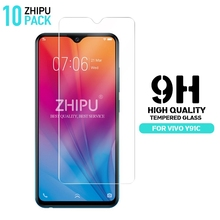 10 Pcs Tempered Glass For VIVO Y91C Screen Protector 2.5D 9H Premium Protective Film