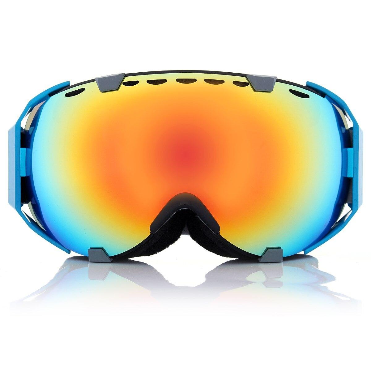 11 colors Unisex Professional Spherical Dual Lens Mirror anti fog UV Snowboard ski goggles Skiing Eyewear glasses