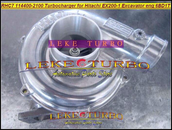 Free Ship RHC7 1-14400-2100 114400-2100 NH170048 Turbo Turbine Turbocharger For HITACHI EX200-1 Excavator Engine 6BD1T 6BD1-T free ship turbo rhf5 8973737771 897373 7771 turbo turbine turbocharger for isuzu d max d max h warner 4ja1t 4ja1 t 4ja1 t engine