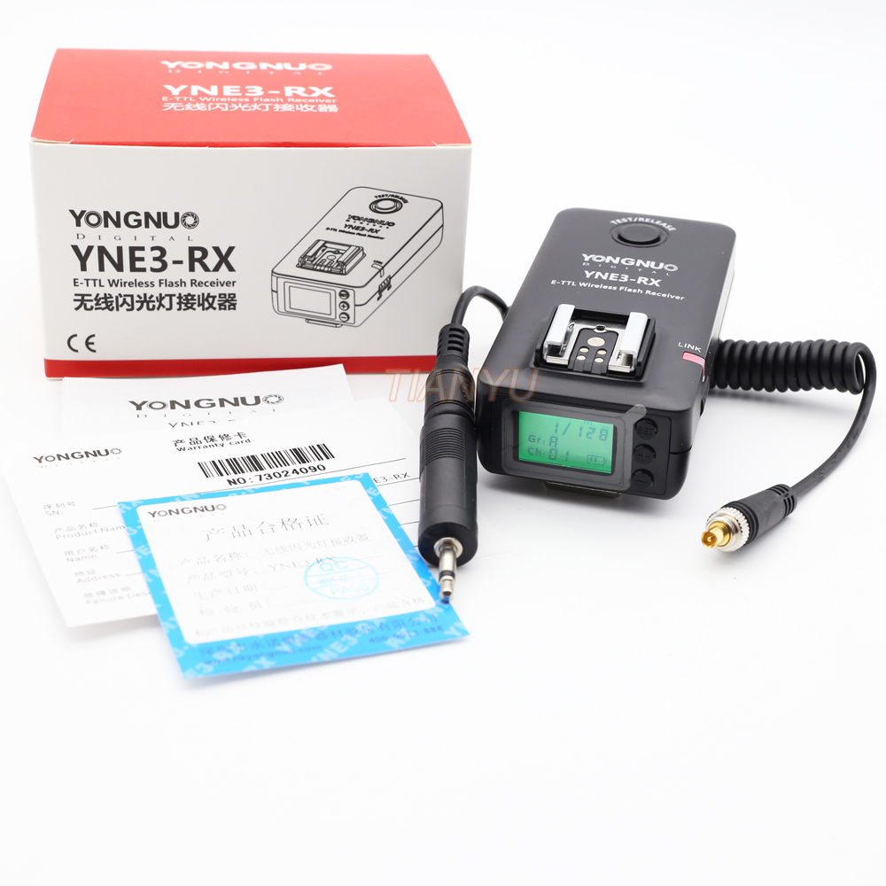 Yongnuo YN-E3-RX e-TTL Wireless Flash Receiver for YONGNUO YN568EX II,YN565EX II YN600EX-RT,for Canon 580EX II 600EX-RT,YNE3-RX аксессуар phottix strato ii receiver for canon 15656