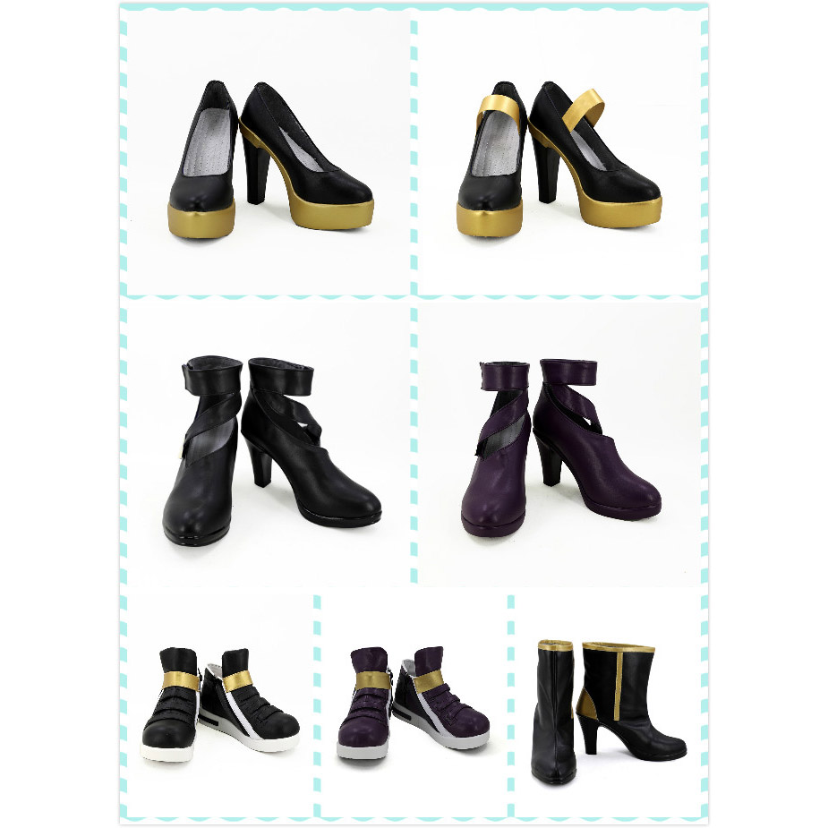 Final Fantasy VII Yuffie Kisaragi Fancy Cosplay Flat Boots shoes shoe boot