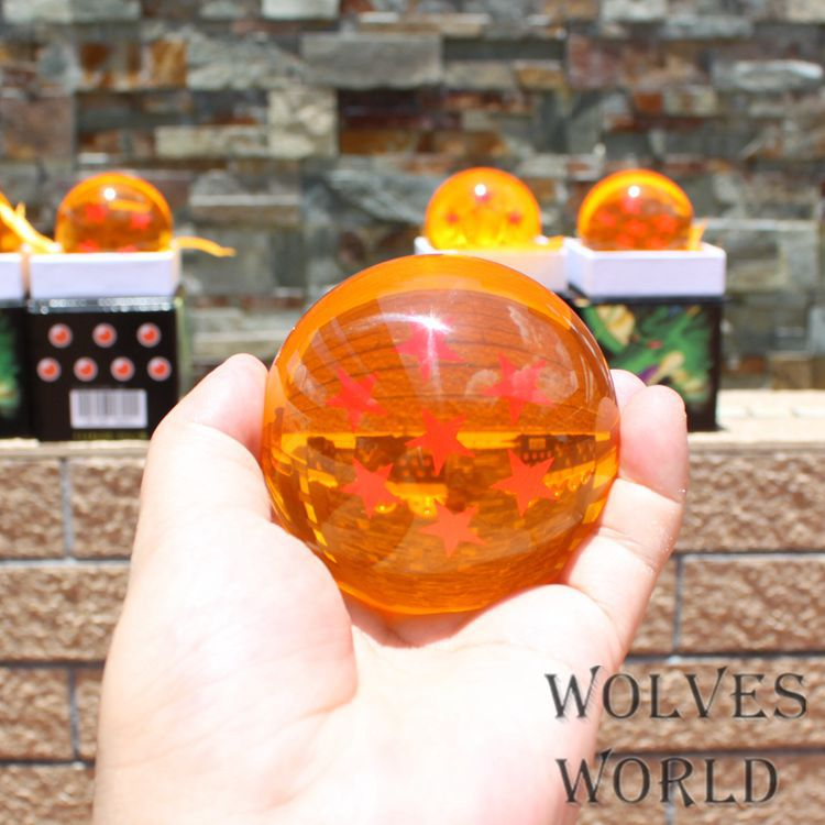 NEW hot 1pcs 7.6cm Dragon Ball 7 Stars Anime Crystal Ball Set of ACRYLIC action figure toys Christmas toy 7pcs set 3 5cm dragon ball z 7 stars crystal balls dragonball ball complete set new in box retail wholesale free shipping